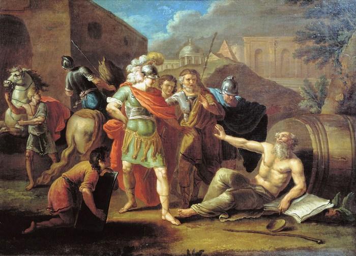 aleksandr makedonskij i diogen