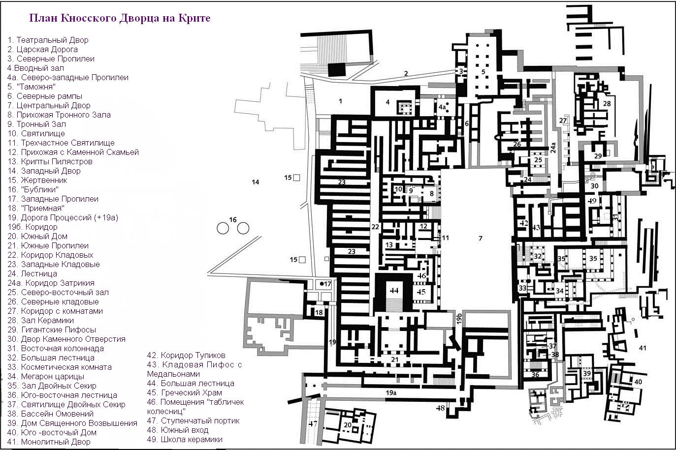 karta knosskogo dvorca